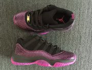 Wholesale Cheap Womens Air Jordan 11 Low Rook to queen Black/Fuchsia Blast