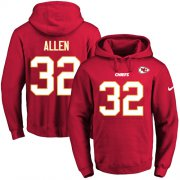 Wholesale Cheap Nike Chiefs #32 Marcus Allen Red Name & Number Pullover NFL Hoodie