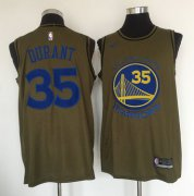 Wholesale Cheap Golden State Warriors #35 Kevin Durant Olive Nike Swingman Jersey