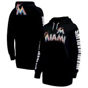 Wholesale Cheap Miami Marlins G-III 4Her by Carl Banks Women's Extra Innings Pullover Hoodie Black