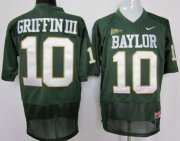 Wholesale Cheap Baylor Bears #10 Robert Griffin III Green Jersey