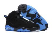 Wholesale Cheap Air Jordan 6 Retro Shoes Black/Transparent blue