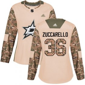 Wholesale Cheap Adidas Stars #36 Mats Zuccarello Camo Authentic 2017 Veterans Day Women\'s Stitched NHL Jersey