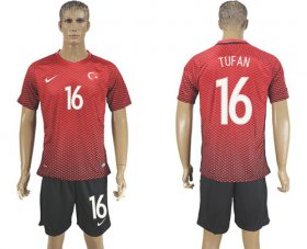 Wholesale Cheap Turkey #16 Tufan Home Soccer Country Jersey