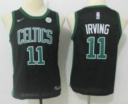 Cheap Youth Boston Celtics #11 Kyrie Irving Black 2017-2018 Nike Swingman General Electric Stitched NBA Jersey