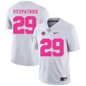Wholesale Cheap Alabama Crimson Tide 29 Minkah Fitzpatrick White 2017 Breast Cancer Awareness College Football Jersey