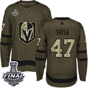 Wholesale Cheap Adidas Golden Knights #47 Luca Sbisa Green Salute to Service 2018 Stanley Cup Final Stitched Youth NHL Jersey