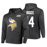 Wholesale Cheap Minnesota Vikings #14 Stefon Diggs Nike NFL 100 Primary Logo Circuit Name & Number Pullover Hoodie Anthracite