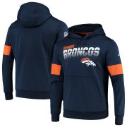 Wholesale Cheap Denver Broncos Nike Sideline Team Logo Performance Pullover Hoodie Navy
