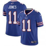 Wholesale Cheap Nike Bills #11 Zay Jones Royal Blue Team Color Men's Stitched NFL Vapor Untouchable Limited Jersey