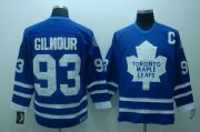 Wholesale Cheap Maple Leafs #93 Doug Gilmour Stitched Blue CCM Throwback NHL Jersey