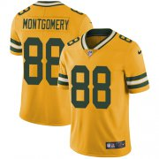 Wholesale Cheap Nike Packers #88 Ty Montgomery Yellow Men's Stitched NFL Limited Rush Jersey