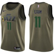 Wholesale Cheap Nike Jazz #11 Dante Exum Green Salute to Service NBA Swingman Jersey