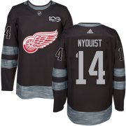 Wholesale Cheap Adidas Red Wings #14 Gustav Nyquist Black 1917-2017 100th Anniversary Stitched NHL Jersey