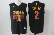 Wholesale Cheap Men's Cleveland Cavaliers Kyrie Irving #2 adidas Black 2017 NBA Finals Patch Champions Stitched Jersey