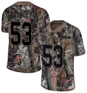 Wholesale Cheap Nike Steelers #53 Maurkice Pouncey Camo Youth Stitched NFL Limited Rush Realtree Jersey