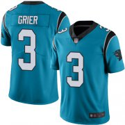 Wholesale Cheap Nike Panthers #3 Will Grier Blue Men's Stitched NFL Limited Rush Jersey