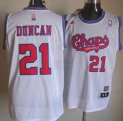 Wholesale Cheap San Antonio Spurs #21 Tim Duncan ABA Hardwood Classic Swingman White Jersey