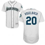 Wholesale Cheap Mariners #20 Dan Vogelbach White Flexbase Authentic Collection Stitched MLB Jersey