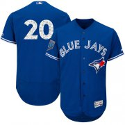 Wholesale Cheap Blue Jays #20 Josh Donaldson Blue 2018 Spring Training Authentic Flex Base Stitched MLB Jersey