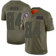 Wholesale Cheap Nike Vikings #84 Randy Moss Camo Men's Stitched NFL Limited 2019 Salute To Service Jersey