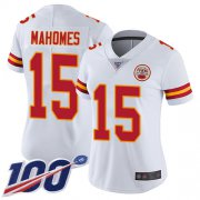 Wholesale Cheap Nike Chiefs #15 Patrick Mahomes White Women's Stitched NFL 100th Season Vapor Limited Jersey