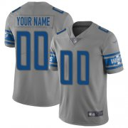 Wholesale Cheap Nike Detroit Lions Customized Gray Men's Stitched NFL Limited Inverted Legend Jersey