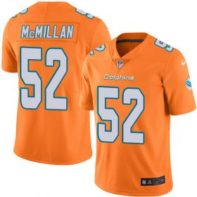 Wholesale Cheap Nike Dolphins #52 Raekwon McMillan Orange Men\'s Stitched NFL Limited Rush Jersey