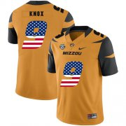 Wholesale Cheap Missouri Tigers 9 Jalen Knox Gold USA Flag Nike College Football Jersey