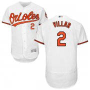 Wholesale Cheap Orioles #2 Jonathan Villar White Flexbase Authentic Collection Stitched MLB Jersey