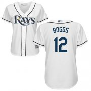Wholesale Cheap Rays #12 Wade Boggs White Home Women's Stitched MLB Jersey