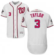 Wholesale Cheap Nationals #3 Michael Taylor White Flexbase Authentic Collection 2019 World Series Champions Stitched MLB Jersey