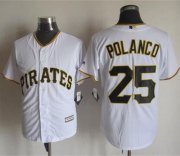 Wholesale Cheap Pirates #25 Gregory Polanco White New Cool Base Stitched MLB Jersey