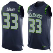 Wholesale Cheap Nike Seahawks #33 Jamal Adams Steel Blue Team Color Men's Stitched NFL Limited Tank Top Jersey