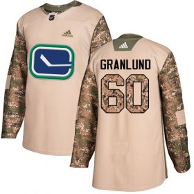 Wholesale Cheap Adidas Canucks #60 Markus Granlund Camo Authentic 2017 Veterans Day Stitched NHL Jersey
