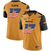Wholesale Cheap Missouri Tigers 17 Richaud Floyd Gold USA Flag Nike College Football Jersey