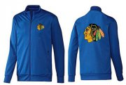 Wholesale NHL Chicago Blackhawks Zip Jackets Blue-1