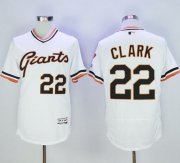 Wholesale Giants #22 Will Clark White Flexbase Authentic Collection Cooperstown Stitched Baseball Jersey