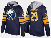 Wholesale Cheap Sabres #29 Jason Pominville Blue Name And Number Hoodie