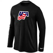 Wholesale Cheap Nike USA Graphic Legend Performance Collection Locker Room Long Sleeve T-Shirt Black