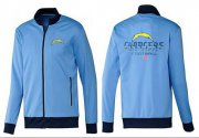 Wholesale Cheap NFL Los Angeles Chargers Victory Jacket Light Blue