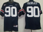 Wholesale Cheap Auburn Tigers #90 Nick Fairley Navy Blue Jersey