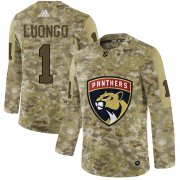 Wholesale Cheap Adidas Panthers #1 Roberto Luongo Camo Authentic Stitched NHL Jersey