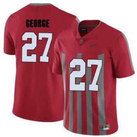 Wholesale Cheap Ohio State Buckeyes 27 Eddie George Red Elite College Football Jersey