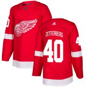 Wholesale Cheap Adidas Red Wings #40 Henrik Zetterberg Red Home Authentic Stitched Youth NHL Jersey
