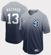 Wholesale Cheap Nike Padres #13 Manny Machado Navy Fade Authentic Stitched MLB Jersey