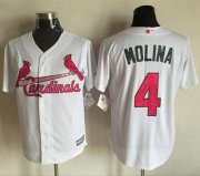 Wholesale Cheap Cardinals #4 Yadier Molina White New Cool Base Mother's Day Stitched MLB Jersey
