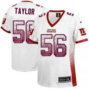 Wholesale Cheap Nike Giants #56 Lawrence Taylor White Women's Stitched NFL Elite Drift Fashion Jersey