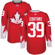 Wholesale Cheap Team CA. #39 Logan Couture Red 2016 World Cup Stitched NHL Jersey