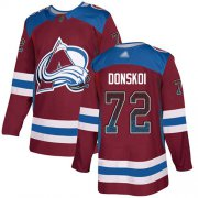 Wholesale Cheap Adidas Avalanche #72 Joonas Donskoi Burgundy Home Authentic Drift Fashion Stitched NHL Jersey